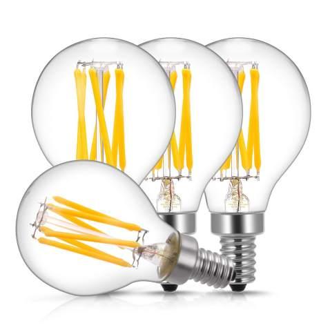 E12 Candelabra Led Light Bulbs 60 Watt Equivalent Doresshop 6w Dimmable Led Filament Bulb Decorative Edison G45 G14 Led Globe Bulbs 2700k Warm White 600lm Filament Clear Glass Pack Of 4