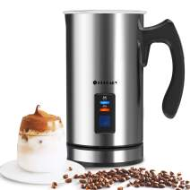 Huogary Milk FrotHer, Automatic Hot and Cold Foam Maker,Electric Milk Steamer for Coffee, Hot Chocolates, Latte, Cappuccino,Milk Warmer Heater