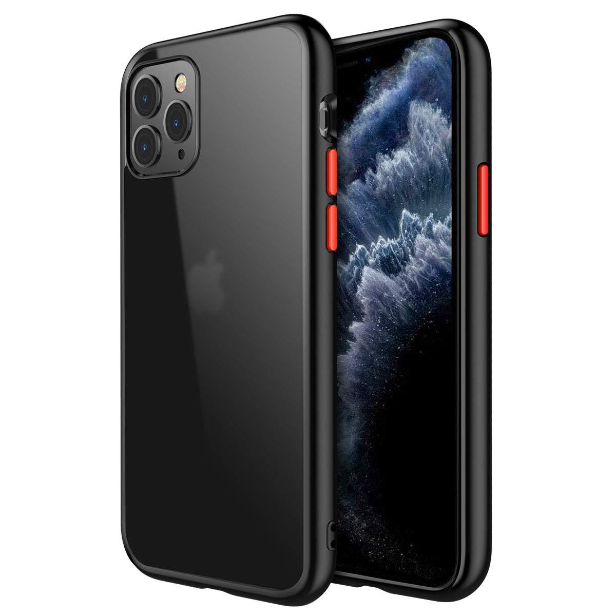 joyroom Matte Case for iPhone 11 Pro, iPhone 11 Pro Case Black, Protective Translucent Hard PC Cases Ultra Hybrid Design [Military Grade Drop Tested] Full Shockproof Cover