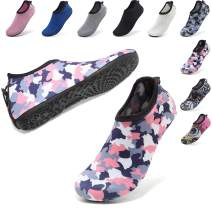 VIFUUR Womens Mens Water Shoes Adjustable Aqua Socks for Outdoor Swimming Beach Surfing Zipper