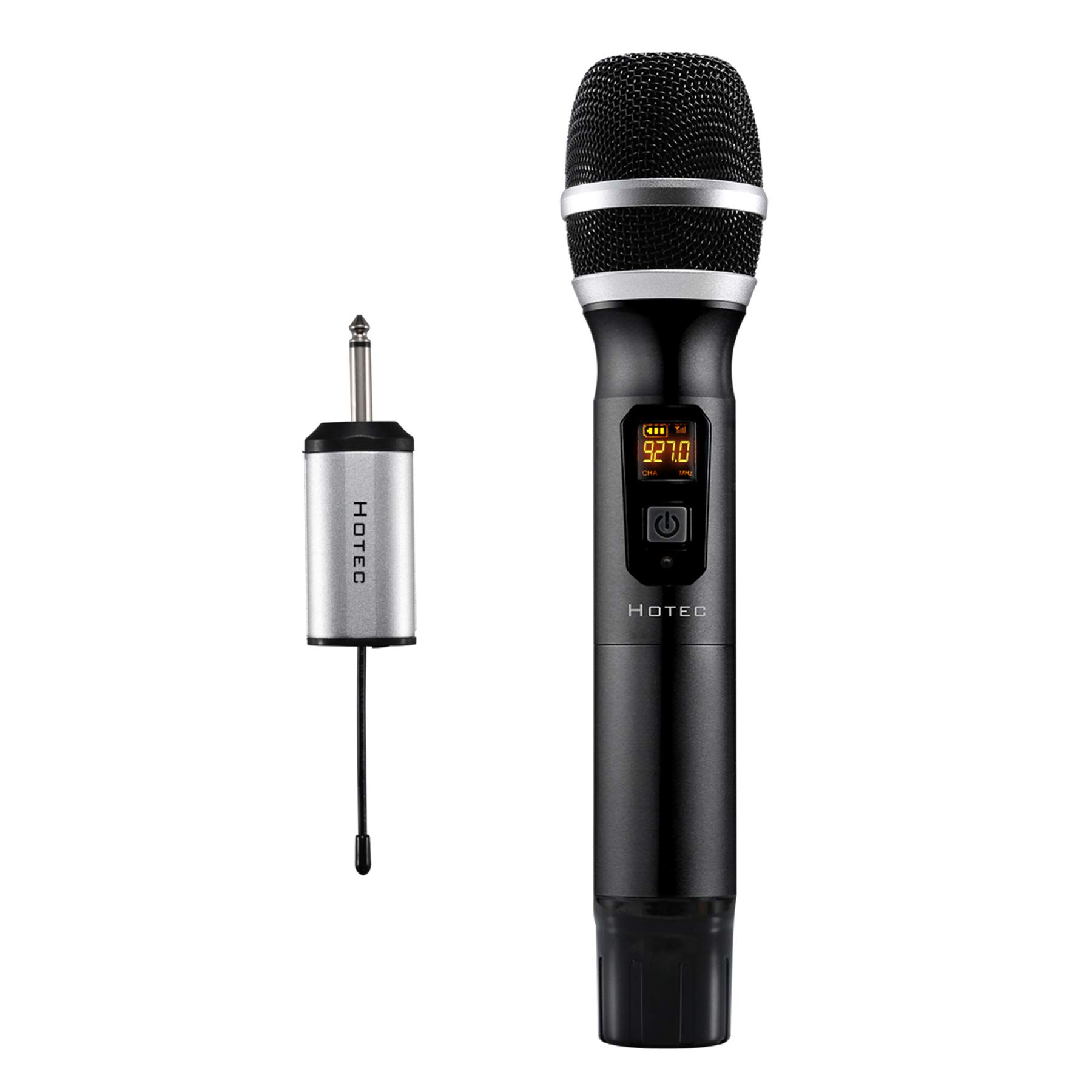 Hotec Wireless Microphones, UHF Handheld Microphone for Church Home Karaoke Party Lecture or Recording (Black U06B)