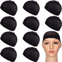 FOCUSSEXY 10 Pcs Unisex Wig Cap Nylon Wig Caps Stocking Wig Caps