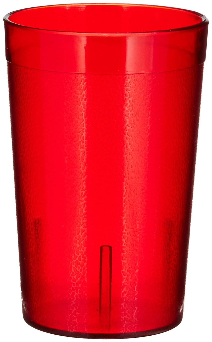 Winco Pebbled Tumblers, 8-Ounce, Red