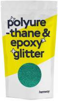 Hemway Metallic Glitter Floor Crystals for Epoxy Resin Flooring (500g) Domestic, Commercial, Industrial - Garage, Basement - Can be Used with Internal & External (Turquoise)