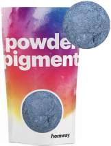 Hemway Pigment Powder Colour Luxury Ultra-Sparkle Dye Metallic Pigments for Epoxy Resin, Polyurethane Paint (Metallic Azure, 50g / 1.75oz)