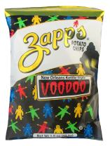 Zapp's New Orleans Kettle-Style Potato Chips, Voodoo Flavor – Crunchy Chips with a Spicy Kick, Great for Lunches or Snacking on the Go, 1.5 oz. Bag (Pack of 30)