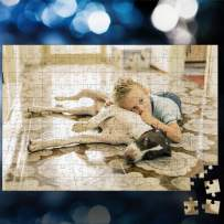 Custom Photo Jigsaw Puzzle for Adults 300 Pieces - DIY Personalized Photo Funny Gifts Custom Puzzles from Photos for Kids Mother's Day DIY Gift Stay at Home Wedding Gifts Family Love Friends Grandma