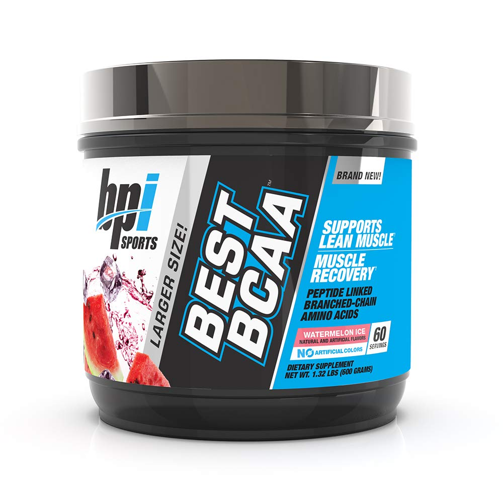 BPI Sports Best BCAA Powder, Branched Chain Amino Acids, Watermelon Ice, 60 Servings, 1.32 Pound
