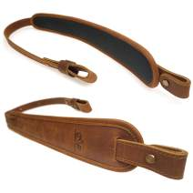 op original power Cowhide Leather Rifle Gun Sling, Comfortable Shoulder Pad Gun Straps, Padded Hand Stitched
