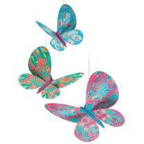 DJECO Glitter Butterflies Airy Mobile Room Decoration