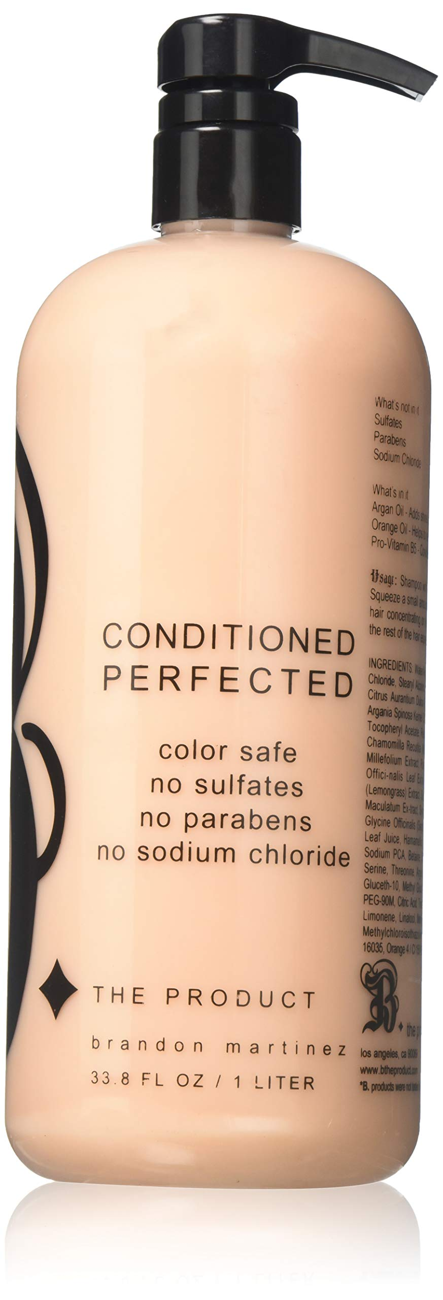 Argan Oil Hair Conditioner For Dry And Damaged Hair, 100% Pure French Argan Oil For Moisture With Pro Vitamin B, Sodium Chloride Free B THE PRODUCT (33.8oz)
