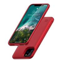HONTECH Battery Case for iPhone 11 Pro Max, iPhone 11 Pro Max Battery Case, 6200mAh Portable Charger Extended Rechargeable Battery Pack Charging Protective Cover 6.5 inch 2019, Red