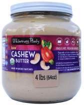 Wilderness Poets, Cashew Butter - Organic, Raw Nut Butter - Half Gallon Glass Jar, 4 Pound (64 Ounce)