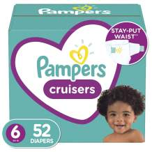 Diapers Size 6, 52 Count - Pampers Cruisers Disposable Baby Diapers, Super Pack (Packaging May Vary)