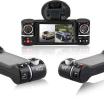 "inDigi Dash Cam 2.7"" TFT LCD Dual Camera Rotated Lens Car DVR w/IR Night Vision - New"