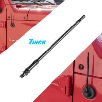 Antenna Compatible with Jeep Wrangler JK JKU JL Rubicon Sahara (2007-2019) 7/13 inches Aluminum Antenna Replacement   Designed Optimized FM/AM Reception (Black, 7 inch)