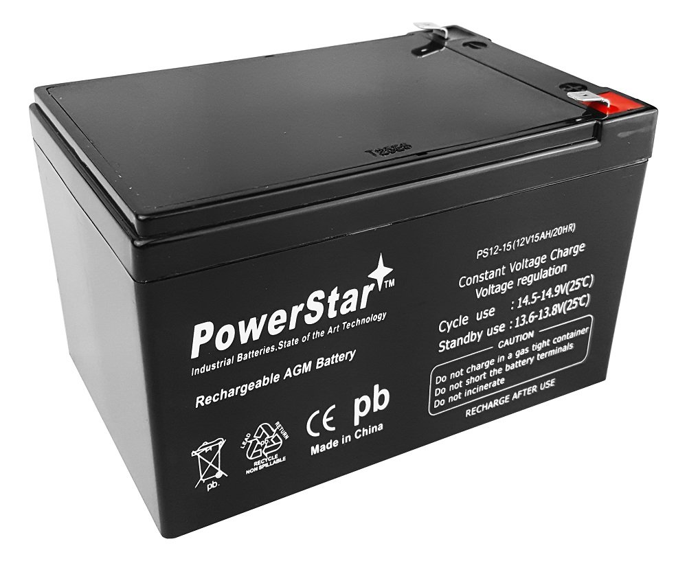 PowerStar 12V 15Ah F2 for UB12120F2 Wheelchair Mobility Scooter Sealed Battery