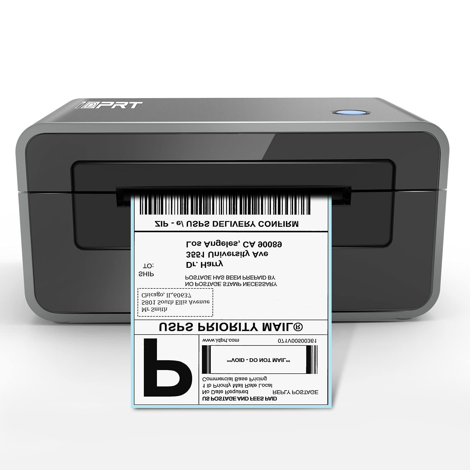 iDPRT Thermal Label Printer, High-Speed 4×6 Shipping Label Printer Maker, Support with Windows & Mac, Label Maker for Delivery and Business, Compatible with Shopify, Ebay, Amazon, PayPal,etc.