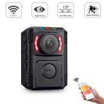GZDL Police Body Camera with Night Vision for Law Enforcement Video Recorder - HD 1080P Motion Detection - Surveillance Pocket Body Worn Camera - Mini Portable Body Camera Wifi Wireless with Phone App