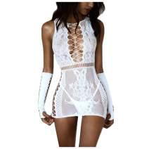 YIWULA Women Sexy Lingerie Sleepwear Babydoll Body Stocking Lace Teddy Robes Nightwear
