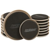 "SuperSliders 4714295N Reusable Furniture Moving Sliders Kit for Carpet Medium & Large, 5"" and 3-1/2"" Bonus Pack (16 Pieces)"