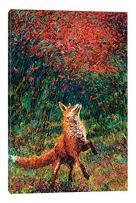 "iCanvasART Fox Fire Canvas Print by Iris Scott, 26"" x 18"""