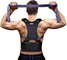 Vitoki Posture Corrector for Men Women Come with Back Training Strap Adjustable Back Brace kyphosis Brace X-Large
