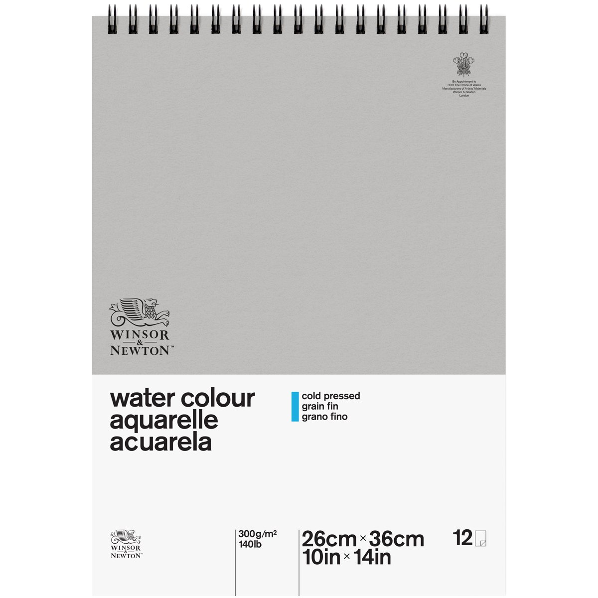 "Winsor & Newton Classic Watercolor Paper Spiral Pad, Cold Pressed 140lb, 10""x14"""