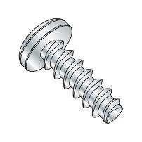 "Steel Thread Rolling Screw for Plastic, Zinc Plated, Pan Head, Phillips Drive, #4-20 Thread Size, 1-1/2"" Length (Pack of 100)"