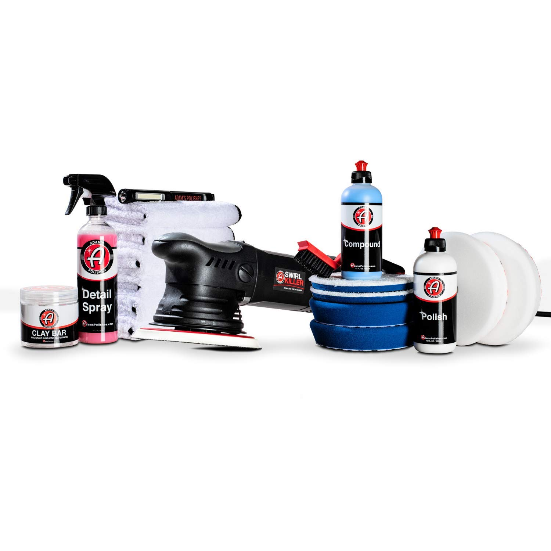 Adam's Swirl Killer 21mm Polisher - Orbital Polishing Paint Correcting Buffer Tool - Car Scratch Remover, Correcting Polish - Use Post Car Wash Clay Bar & Pre Wax or Ceramic Coating (Ultimate Kit)