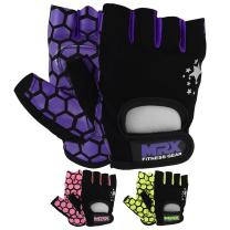 MRX Weight Lifting Training Gloves Crossfit Women Fitness Workout Purple/Black