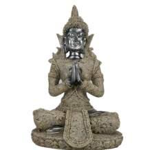 "Vilead Mini Buddha Statue Dhyani Mudra Figurine Hindu Fengshui Praying Sitting Sculpture for Home Decor 4.3"""