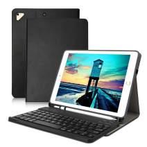 iPad Keyboard Case 9.7 iPad Case with Detachable Wireless Bluetooth Keyboard for iPad 2018 (6th Gen)-iPad 2017(5th Gen) - iPad Pro 9.7-iPad Air 2 & 1- Table Cover Auto Wake/Sleep (Black)