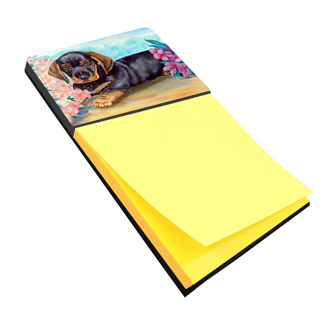 Caroline's Treasures 7501SN Dachshund Refiillable Sticky Note Holder or Postit Note Dispenser, Large, Multicolor