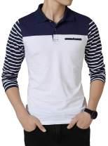 FRTCV Mens Polo Shirt Casual Slim Fit Polo T Shirts Golf Shirt