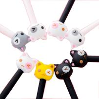 WIN-MARKET Fashion Cute Cartoon Bear Gel Pen Creative Cartoon Ball Pens Office School Supply Stationery (8 pcs)