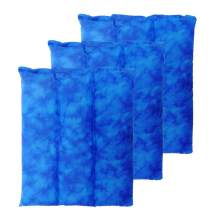 Nature Creation Set of 3 Lumbar Microwave Heating Pads - Family Favorite Value Pack - Aromatherapy Weighted Moist Heat Pads for All Pain Relief and Relaxation - Easy Soothing Comfort (Blue Marble)