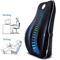 Villsure Lumbar Support Pillow, Memory Foam Back Cushion for Lower Back Pain Relief with Adjustable Elastic Belt, Ergonomic Lumbar Pillow with Breathable Cover for Office Chair/Car Seat/Wheelchair