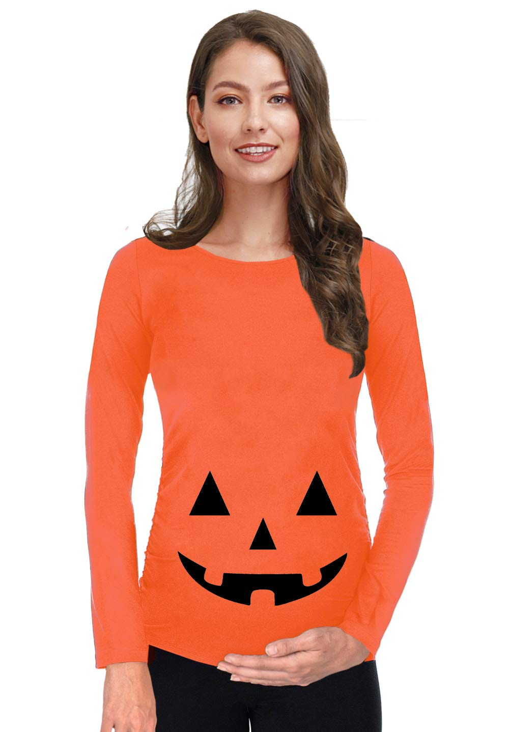 For G and PL Women's Halloween Maternity Long Sleeve Pregnancy Shirt