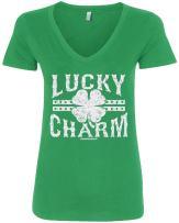 Threadrock Women's Lucky Charm V-Neck T-Shirt