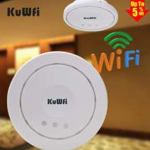 KuWFi Ceiling Wireless Access Point,Ceiling-Mount Wireless Network Indoor Access Ponit PoE Long-Range WiFi AP Router Signal for Whole Home Coverage Wireless Access Point