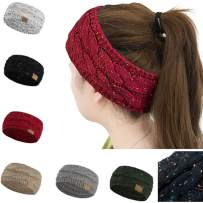 Huiyuzhi Womens Winter Warm Beanie Headband Skiing Cable Knit Cap Ear Warmer Headbands