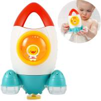 Baby Bath Toys Rocket Shape Water Spray Toys Baby Shower Toy Pool Water Toys for Toddlers Kids Children Boys Girls