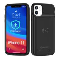 NEWDERY Battery Case for iPhone 11, 5000mAh Wireless Charging Case for iPhone 11 Rechargeable Extended Battery Pack Protective Charger Case Portable Power Bank 2019
