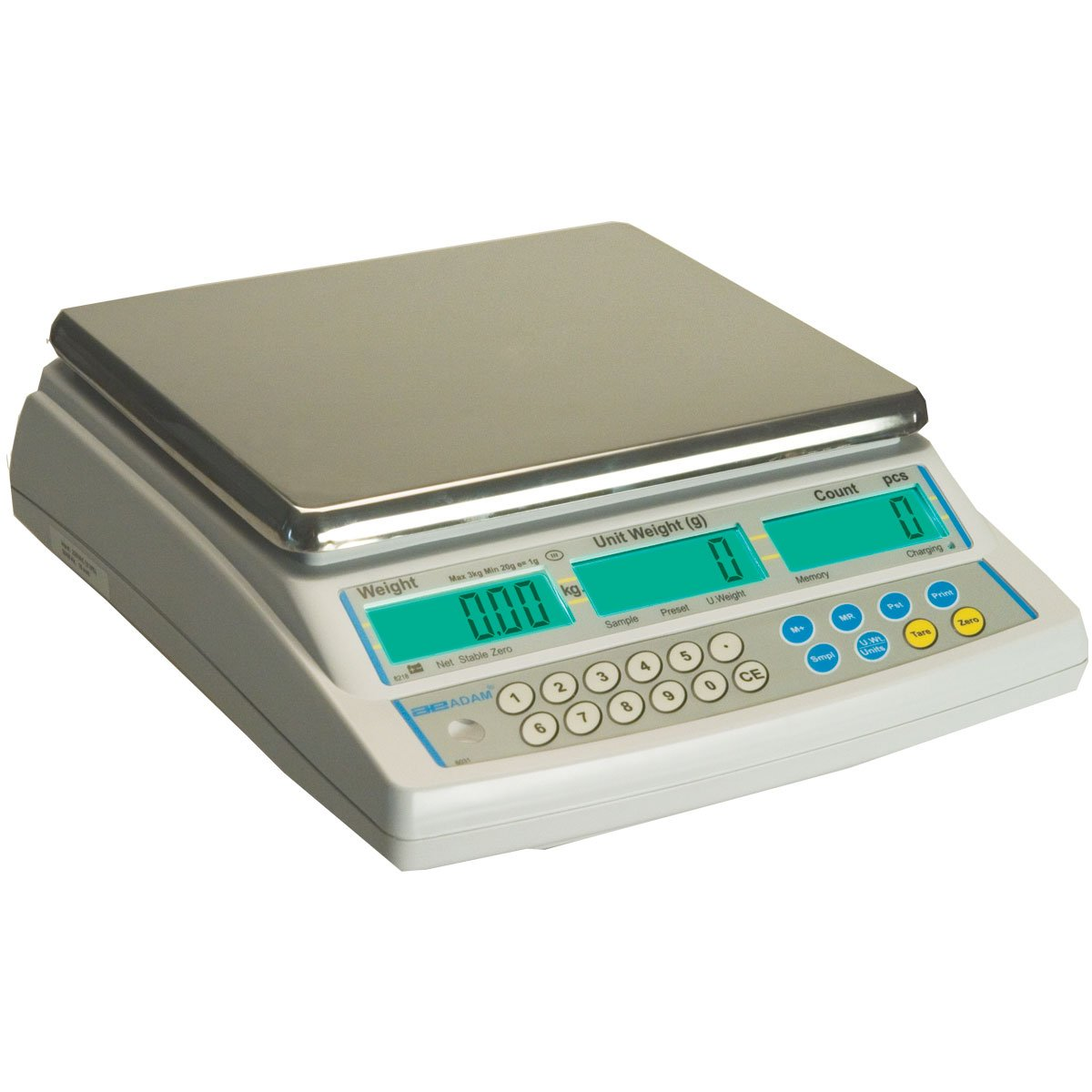 Adam Equipment CBC Counting Scale, 70lb/32kg Capacity and 0.002lb/1g Readability