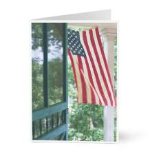 Hallmark Patriotic Cards for Business (Flag on Porch) (Pack of 25 Greeting Cards)