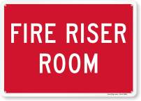 """Fire Riser Room"" Sign By SmartSign 