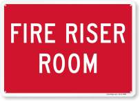 """""""Fire Riser Room"""" Sign By SmartSign   10"""" x 14"""" Aluminum"""