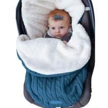 CLOMAY Newborn Baby Swaddle Blanket, Soft Thick Baby Kids Toddler Knit Warm Fleece Blanket Swaddle Sleeping Wrap Bag Sack Stroller Unisex Baby Sleep Bag for 0-12 Month Baby Boys Girls