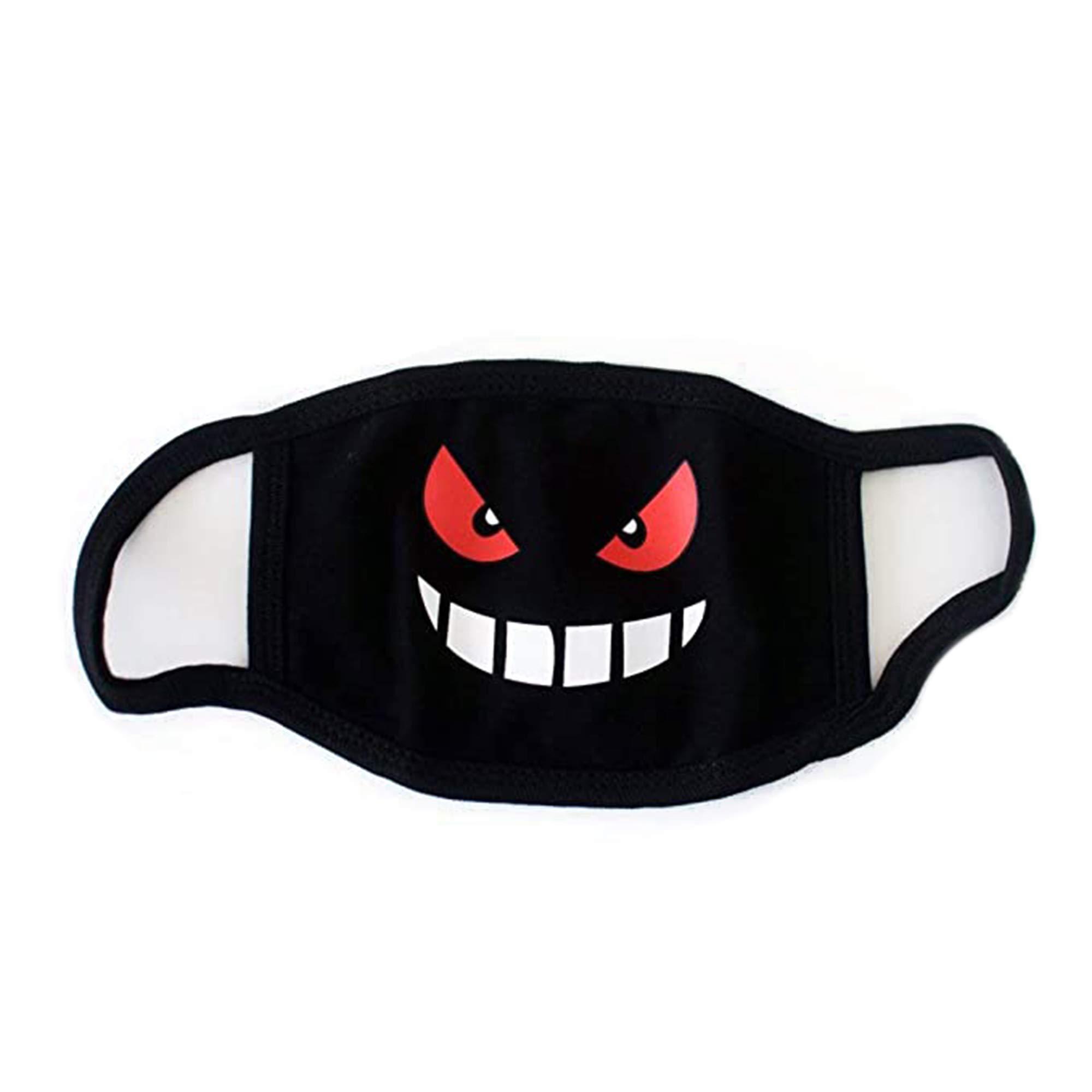 COOLINKO Face Cosplay Costume Black Cotton Cartoon Anime Cute Mouth Head Fashion Accessory (#53)